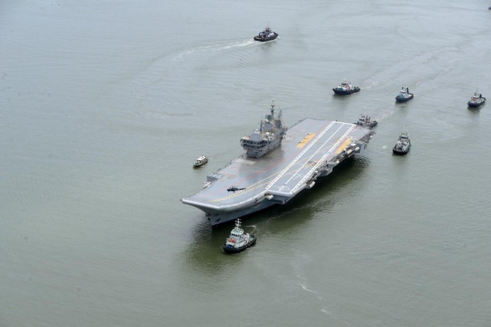 The Weekend Leader - Sea trials of India's first indigenous aircraft carrier kick off