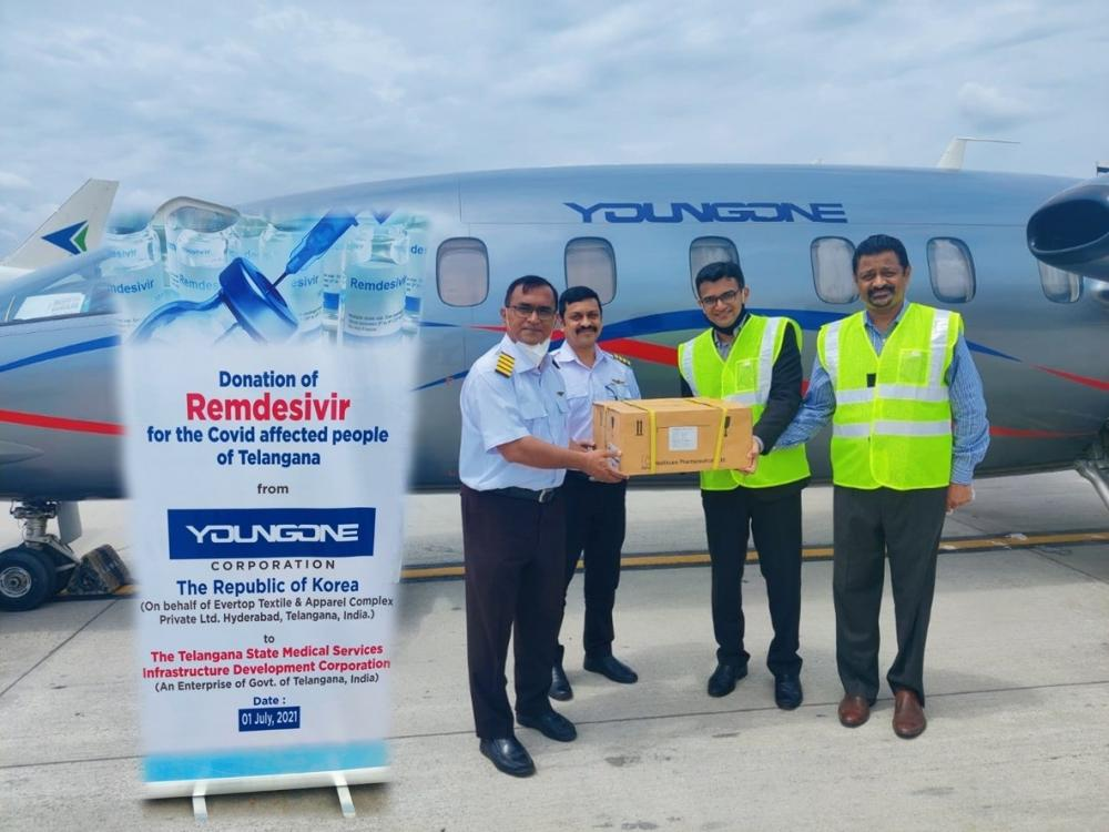 The Weekend Leader - Youngone donates 10k doses of Remdesivir to Telangana