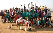 Tribal girls of Hutup are reaching their goals, playing football