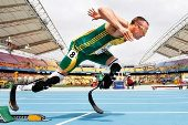 On prosthetic limbs since six months of age, he was part of the S African Olympic squad