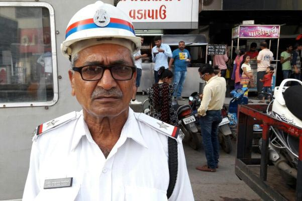 Towering cop