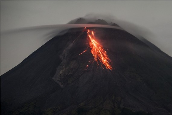 The Weekend Leader - Indonesia's Mt. Merapi emits hot clouds