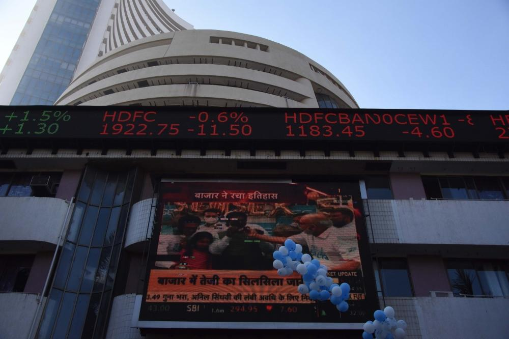 The Weekend Leader - Sensex, Nifty end near record closing highs (Lead)