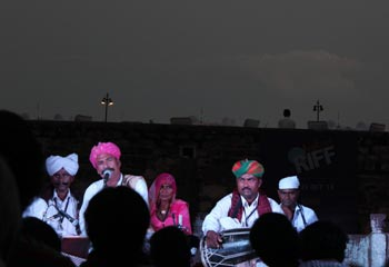 A self-taught musician, Maangi Bai enthralled audience at a Jodhpur folk festival