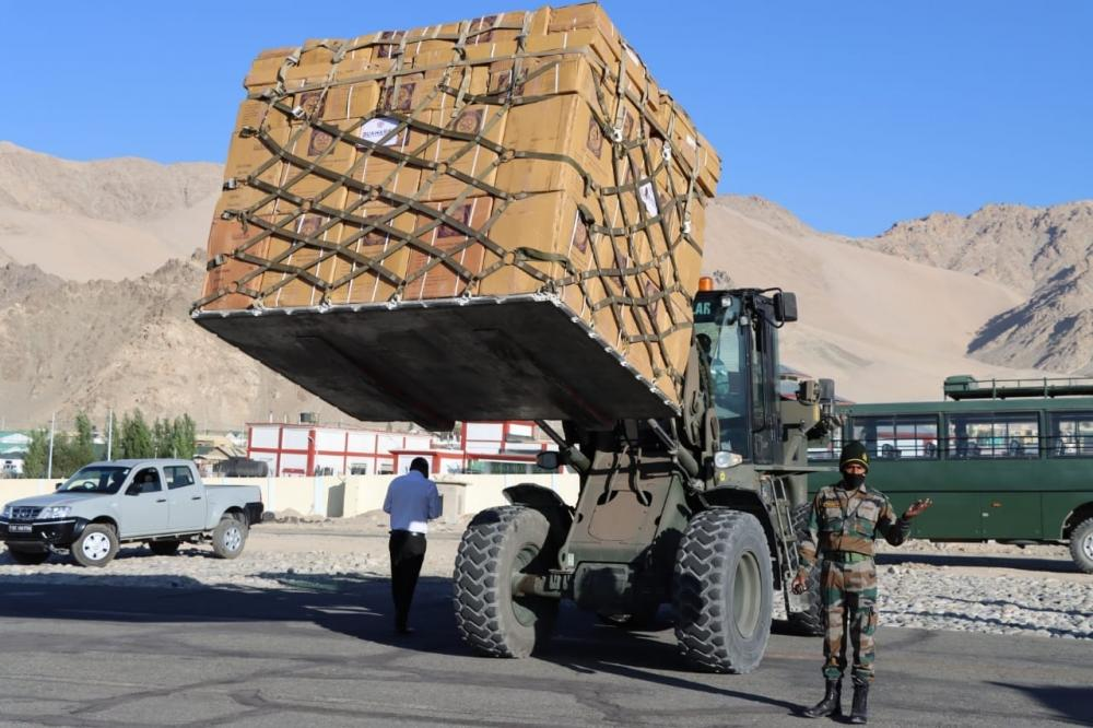 The Weekend Leader - Indian Army stocks up for long haul in eastern Ladakh