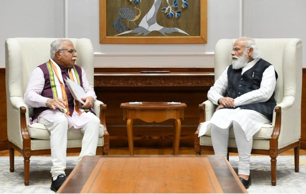 The Weekend Leader - Haryana CM meets PM, briefs about farmers protest, Karnal incident