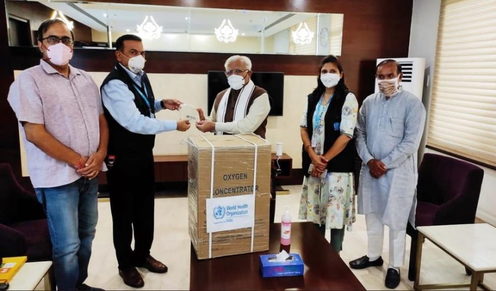The Weekend Leader - WHO gives 100 oxygen concentrators to Haryana