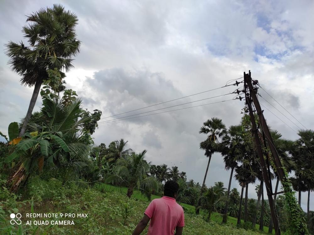 The Weekend Leader - Andhra engineers use drone to restore power across raging river