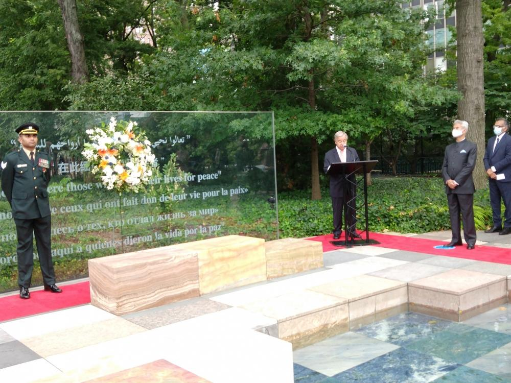The Weekend Leader - Guterres, Jaishankar pay tributes to UN peacekeepers killed in service