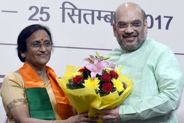 Rita Bahuguna Joshi joins BJP, attacks Rahul