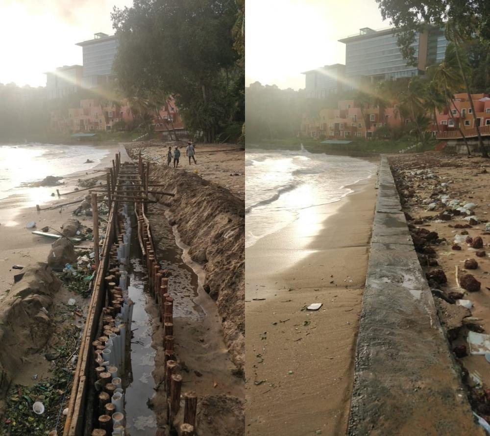 The Weekend Leader - Concrete wall on Goa beach makes ripples amid Covid curfew