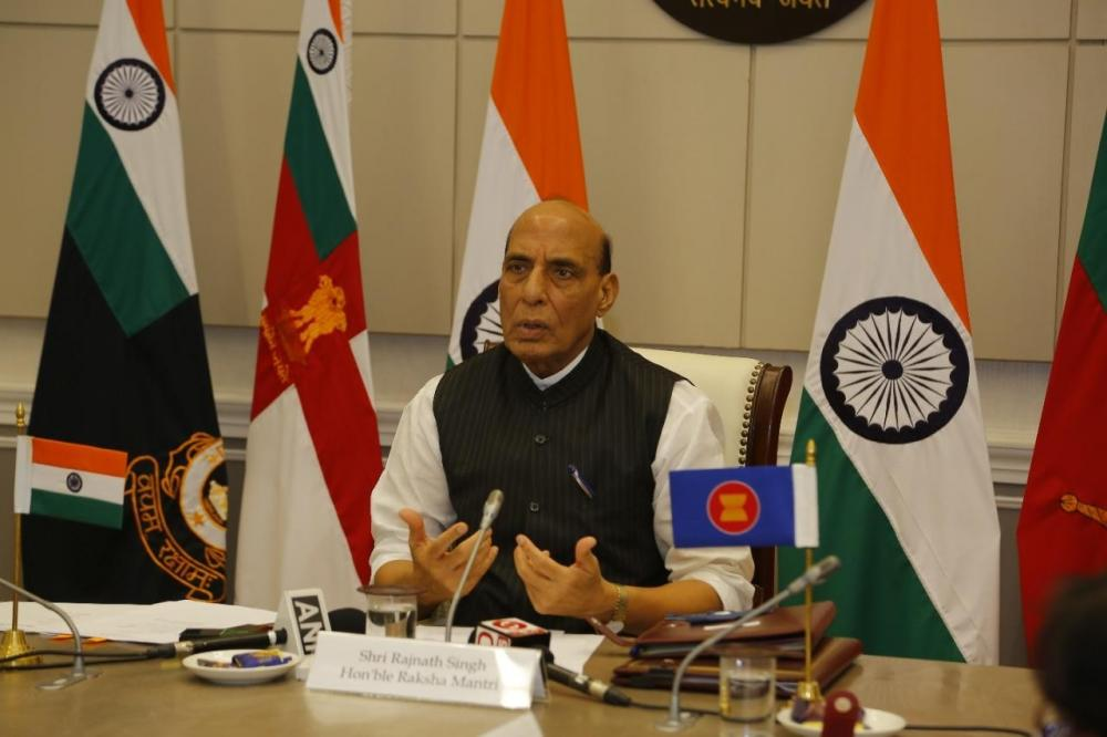 The Weekend Leader - Rajnath takes stock of Project Seabird at Karwar base