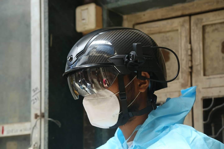 Now, 'Smart Helmets' confront corona headlong in Mumbai, Pune