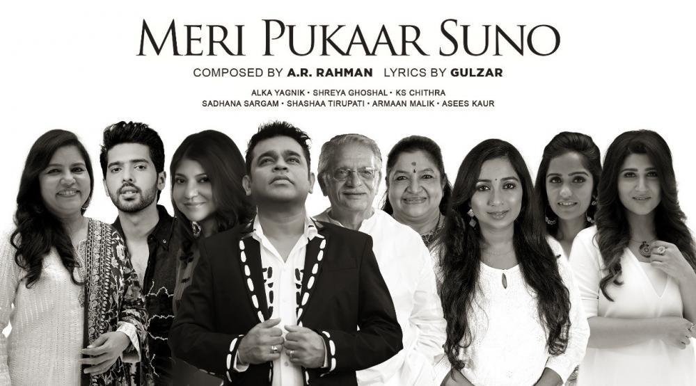 The Weekend Leader - AR Rahman, Gulzar create hope anthem 'Meri pukaar suno', sung by 7 top singers