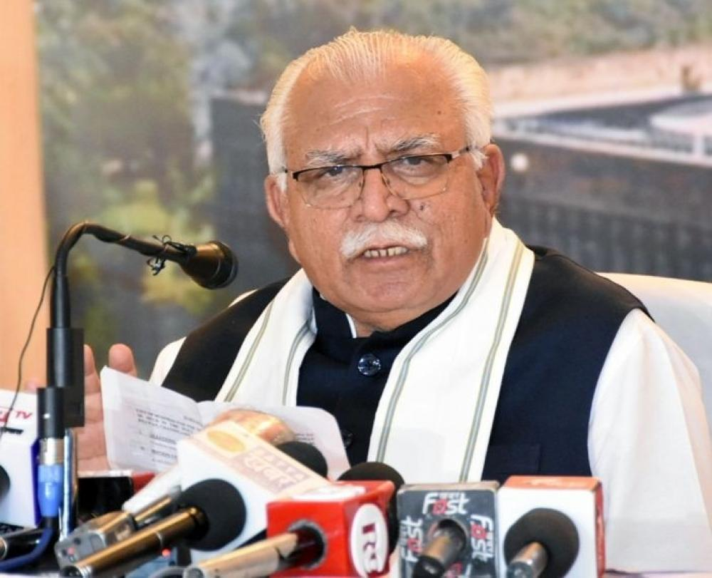 The Weekend Leader - Haryana CM thanks state's farmers for not participating in stir