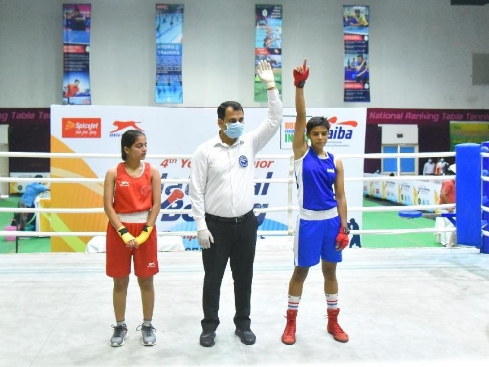 The Weekend Leader - Jr National Boxing: Mahi Raghav cruises into final