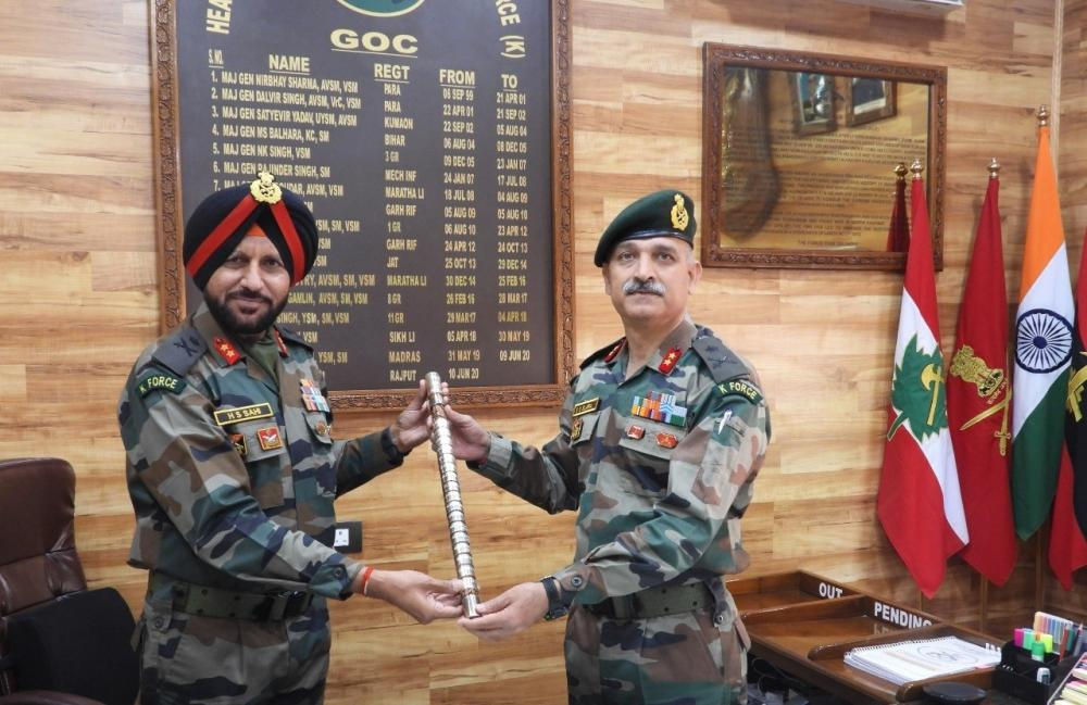 The Weekend Leader - Maj Gen SS Slaria takes over as GOC of Kilo Force