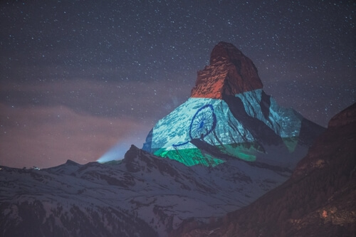 Matterhorn lights up with Indian tricolour  ?