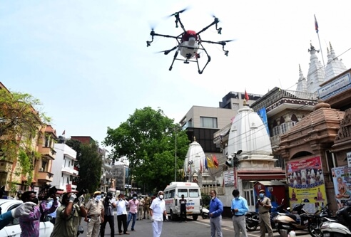 Drones used to disinfect PM Modi's constituency; to be replicated across India