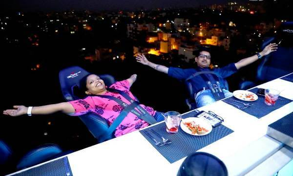 This restaurant in Bengaluru lets you dine at 160 ft mid-air