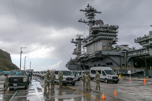 US Air Force builds facility in Guam to accommodate Roosevelt sailors