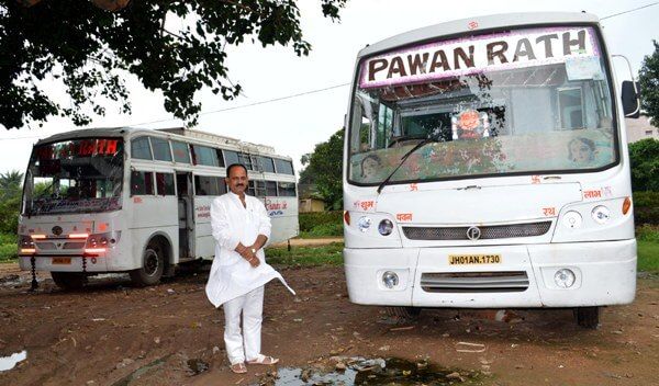 Man who was booking bus tickets is now owner of a bus company