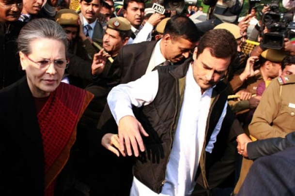 The Weekend Leader - Sonia, Rahul appear in Delhi court, granted bail