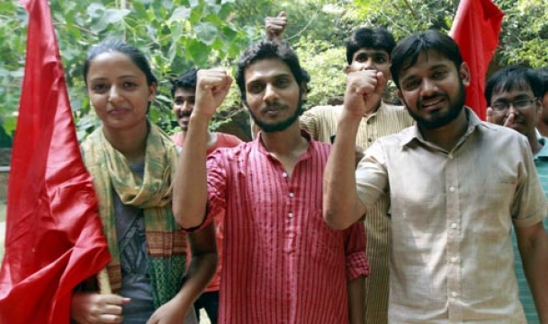 JNU Students Union leader held on sedition charge