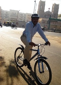 Life is a cycle: For Mathew Cherian, the bicycle became an integral part of his life much before many others began to discover it in recent times