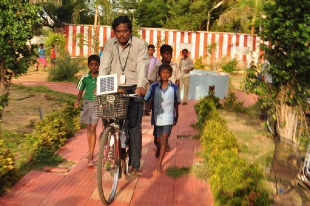 Solar bicycle is now a reality in India
