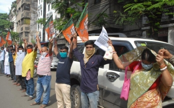 BJP activists, police clash in Siliguri over protest march