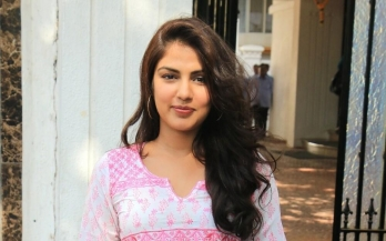 ?Rhea Chakraborty at NCB office for third day