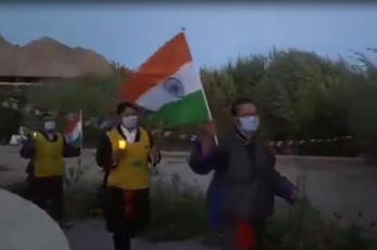 ?Candlelight march in Leh in memory of braveheart Nyima Tenzin