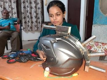 Student develops 'Robo Helmet' to strengthen security forces