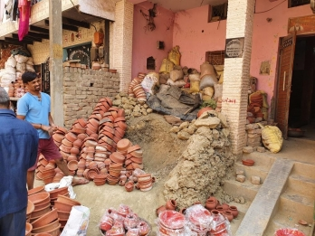 Potters hope business booms due to Deepawali, India-China dispute