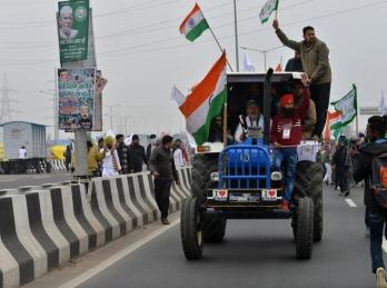 Farmers' tractor rally 'rehearsal' held in Gurugram