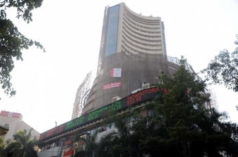 Sensex down over 100 points after opening in green