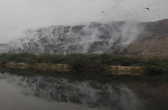 Firefighting at Gazipur landfill on