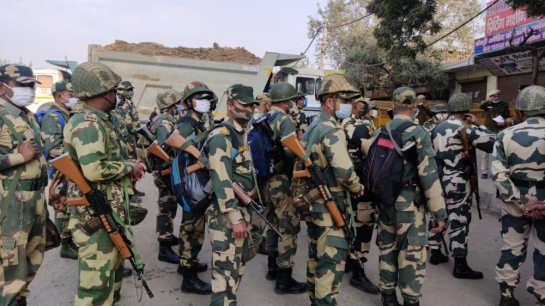 Farmers' march: Security beefed up