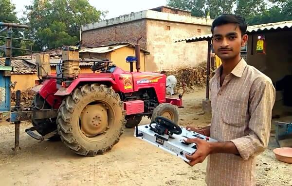Barely Out of Teenage Youth Develops Driverless Tractor in Rural Rajasthan